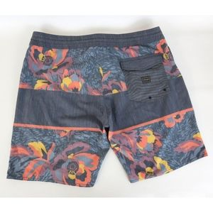 Volcom 3 Quarta Stoney Sz 38 Board Shorts Floral